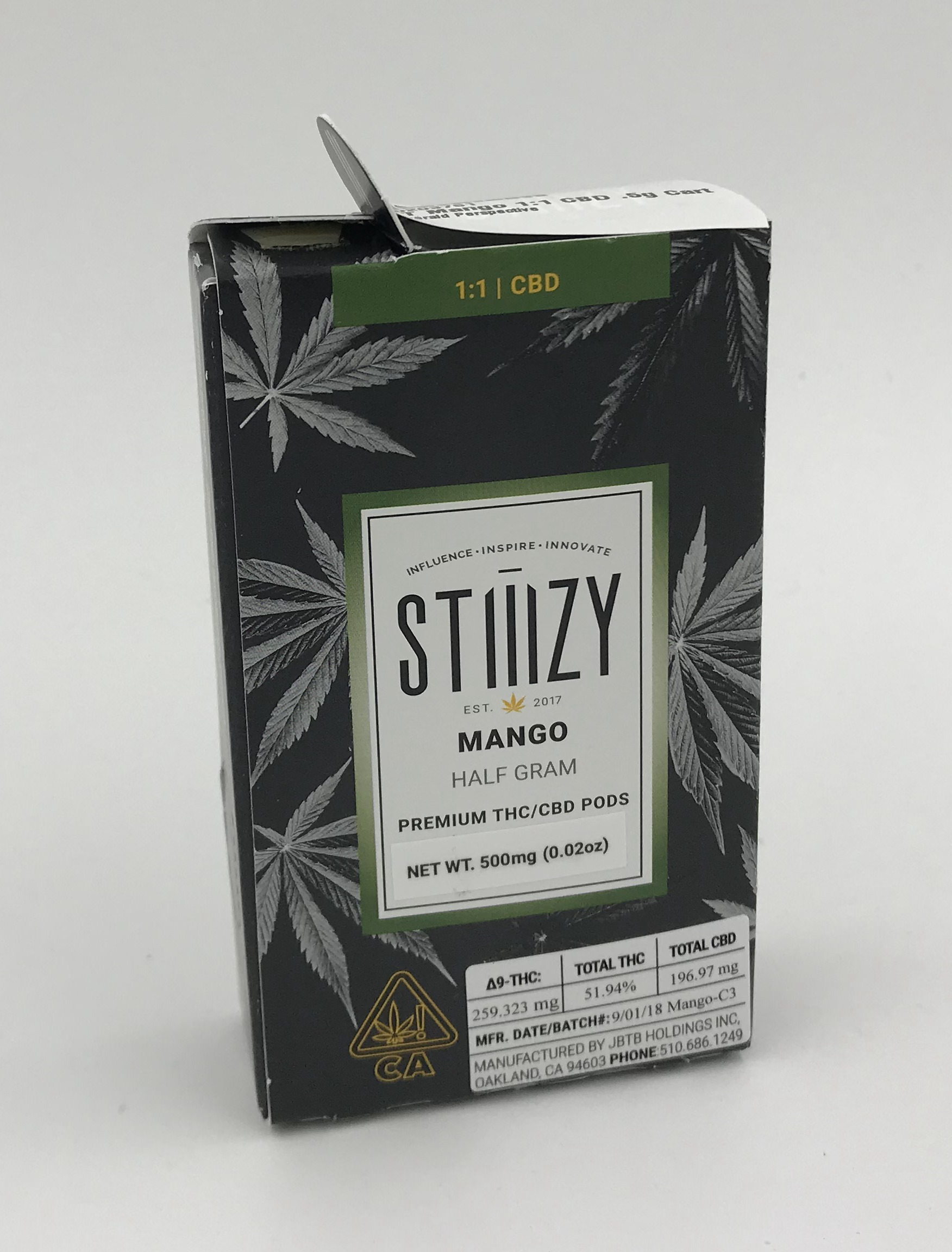 Mango 1:1 CBD POD by Stiiizy – Emerald Perspective